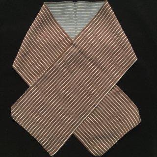 円窓C222*白ストライプ・茶色/やゝオリジナル半衿