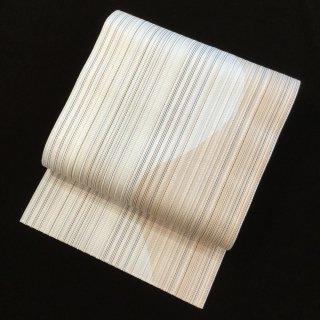 円窓O359*織り糸とりどり色遊び(未使用品)八寸帯/リユース名古屋帯