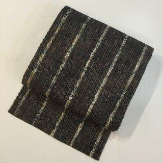 円窓O399*久留米絣山藍・温かみのある八寸帯(未使用品)/リユース名古屋帯