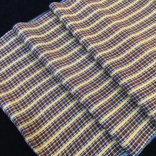 円窓C233*モダンなチェック柄・縮緬/やゝオリジナル帯揚げ&半衿セット