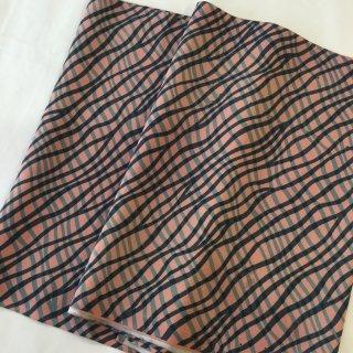 円窓C236*レトロポップなよろけ縞/やゝオリジナル帯揚げ&半衿セット