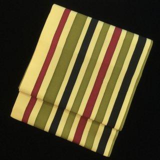 円窓O417*ビビッドなストライプ(未使用品)/リユース名古屋帯