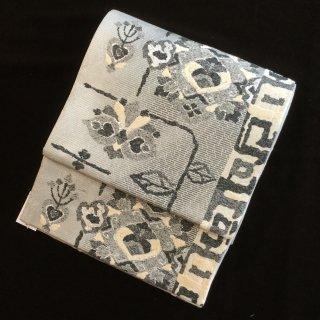 円窓O428*銀世界/リユース袋帯