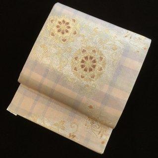 円窓O432*宝相華に花喰い鳥(未使用品)/リユース袋帯
