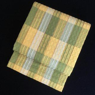 円窓O436*菜の花の君.凹凸のある紬/リユース袋帯