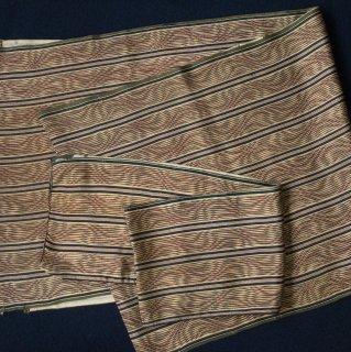 やゝC-019*錦紗のモダンなストライプ/やゝオリジナル帯揚げ&半衿セット