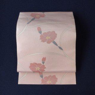 やゝO‐108*シンプルな花模様*名古屋帯リユース