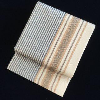 円窓O-469*手描きの縞みたい♪織の魅力・夏/リユース袋帯