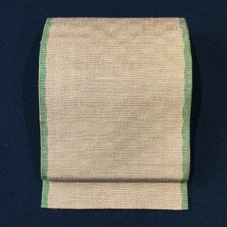 やゝO‐142*織りの表情愉しむ無地カジュアル*袋帯リユース
