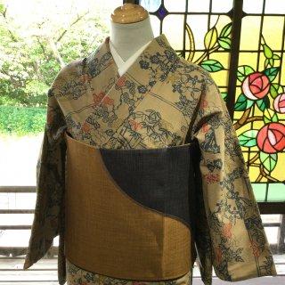 やゝK‐152*秋色紬に染め/着物リユース