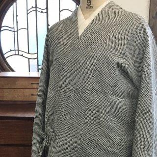 円窓K-529*ストール付き♪鹿の子模様の織り柄(未使用品)/リユース道中着