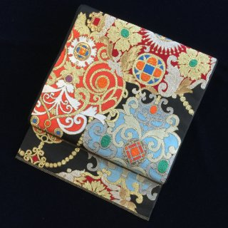 円窓O-498*川島織物製・宝石の如き煌めき/リユース袋帯