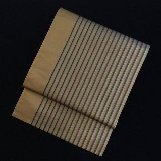 円窓O-502*メンズライクな縞(未使用品)/リユース袋帯