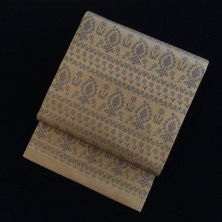 円窓O-506*控えめに馴染んで...お花/アンティーク袋帯