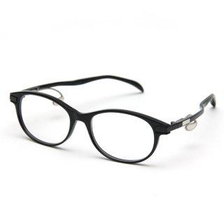 オーバルタイプ度付きメガネ(BLACK)