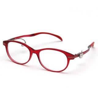 オーバルタイプ度付きメガネ(RED)