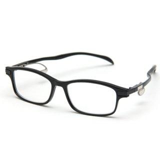 スクエアタイプ度付きメガネ(BLACK)