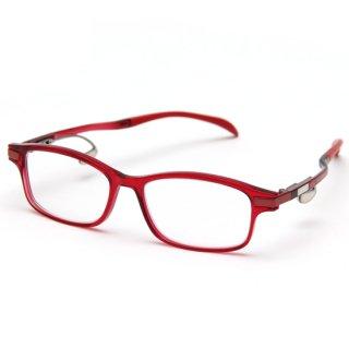 スクエアタイプ度付きメガネ(RED)
