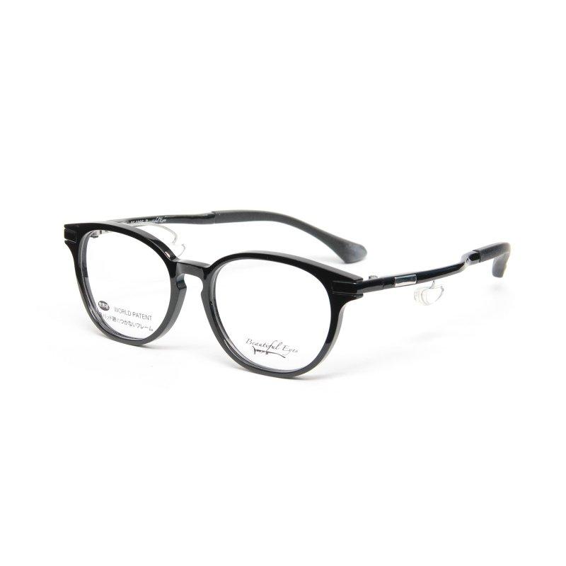 ボストンタイプ度付きメガネ(BLACK)