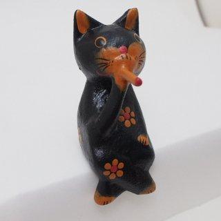 【スモーキング】お座り黒ネコ