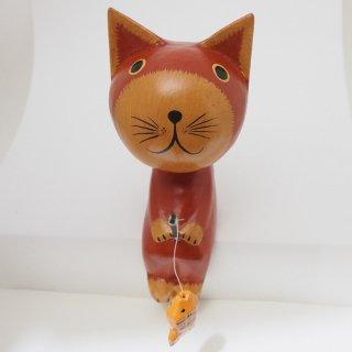 15cmお座りネコ(赤)