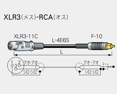 【受注生産品】CANARE ( カナレ ) / RC02-X1  XLR3(メス)-RCA(オス)  2m