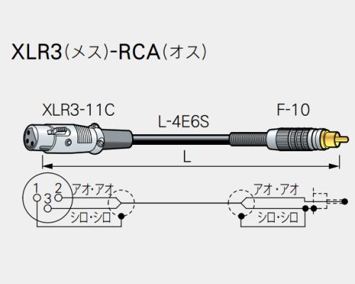【受注生産品】CANARE ( カナレ ) / RC01-X1  XLR3(メス)-RCA(オス)  1m