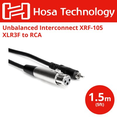 Hosa XRF-105 1.5m RCAオス-XLRメス オーディオケーブル
