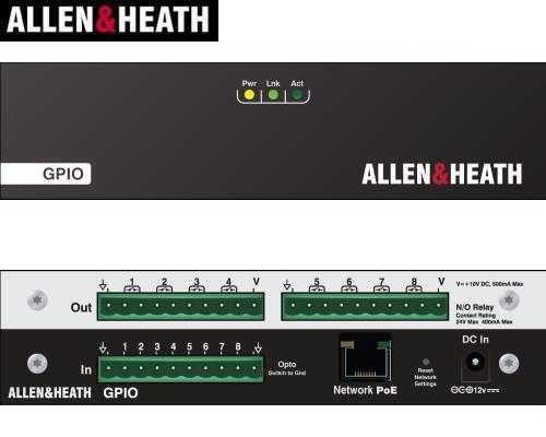 ALLEN&HEATH(A&H)/アレン&ヒース(アレヒ) dLive用I/O拡張ユニット GPIO