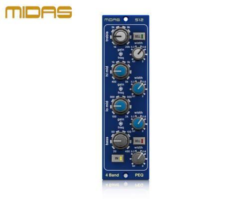 MIDAS(マイダス)パラメトリックイコライザー PARAMETRIC EQUALISER 512 V2
