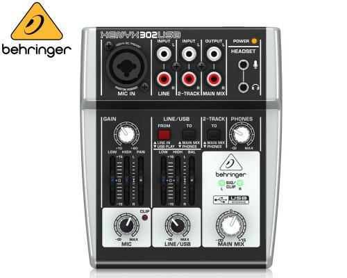 BEHRINGER(ベリンガー)アナログミキサー(2ch) 302USB XENYX※在庫限り