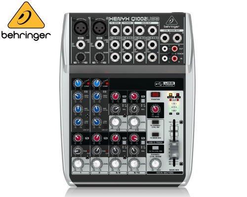 BEHRINGER(ベリンガー)アナログミキサー(10ch) Q1002USB XENYX※在庫限り