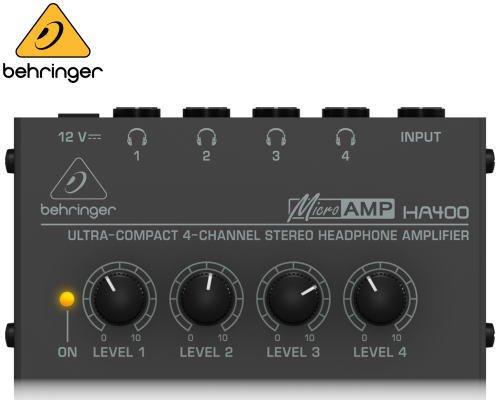 BEHRINGER(ベリンガー)ヘッドホンアンプ HA400 MICROAMP※在庫限り