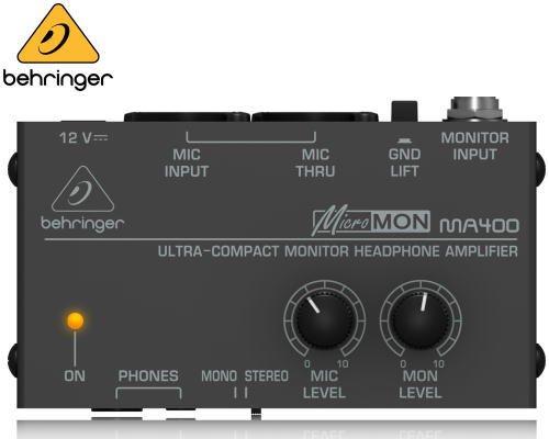 BEHRINGER(ベリンガー)ヘッドホンアンプ MA400 MICROMON※在庫限り