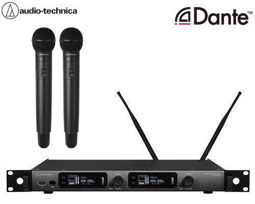 audio-technica デジタルワイヤレスシステム(Dante付き) ATW-DR3120DANHH1 ×1 + ATW-DT3102/SHH1×2 + ATW-C510×2 セット