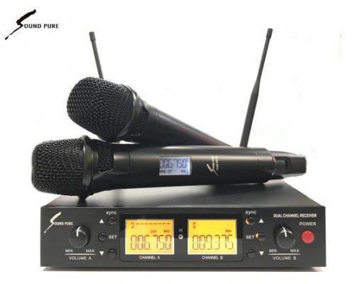Soundpure(サウンドピュア) デュアルマイクロホン ワイヤレスセット B帯 SPWH01-11s-2