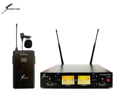Soundpure(サウンドピュア) ラべリアマイクロホン ワイヤレスセット B帯 SPWH01-22ePINBK