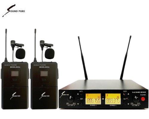 Soundpure(サウンドピュア) デュアルラべリアマイクロホン ワイヤレスセット B帯 SPWH01-22ePINBK2