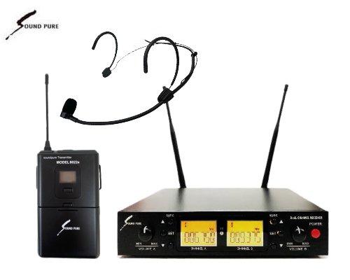 Soundpure(サウンドピュア) ヘッドウォーンマイクロホン ワイヤレスセット B帯 SPWH01-22eHSBK