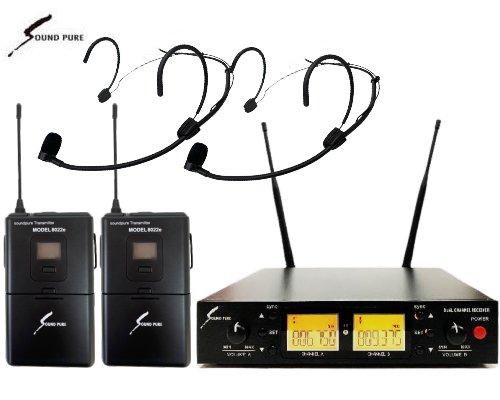Soundpure(サウンドピュア) デュアルヘッドウォーンマイクロホン ワイヤレスセット B帯 SPWH01-22eHSBK2