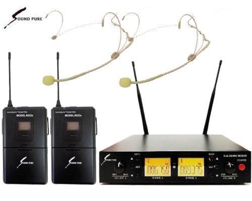 Soundpure(サウンドピュア) デュアルヘッドウォーンマイクロホン ワイヤレスセット B帯 SPWH01-22eHSBE2