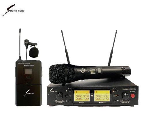 Soundpure(サウンドピュア) ボーカル・ラべリアマイクロホン コンボワイヤレスセット B帯 SP8011-PIN