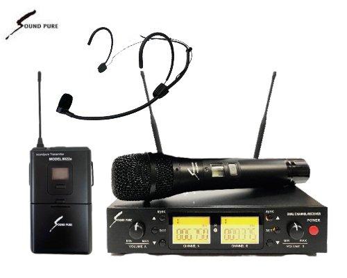 Soundpure(サウンドピュア) ボーカル・ヘッドウォーンマイクロホン コンボワイヤレスセット B帯 SP8011-WEMBK