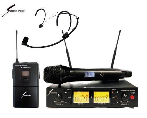 Soundpure(サウンドピュア) ボーカル・ヘッドウォーンマイクロホン コンボワイヤレスセット B帯 SPV8011s-WEMBK