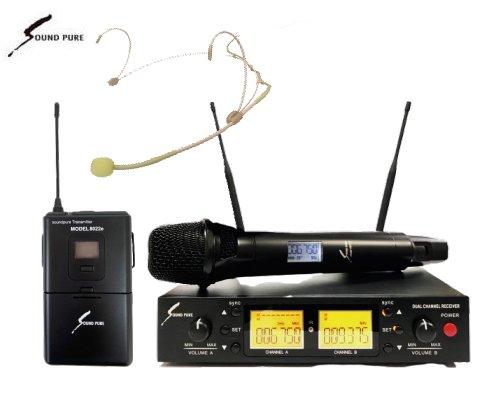Soundpure(サウンドピュア) ボーカル・ヘッドウォーンマイクロホン コンボワイヤレスセット B帯 SPV8011s-WEMBE