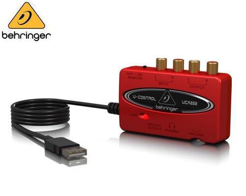 BEHRINGER(ベリンガー)USBオーディオインターフェース UCA222 U-CONTROL※在庫限り