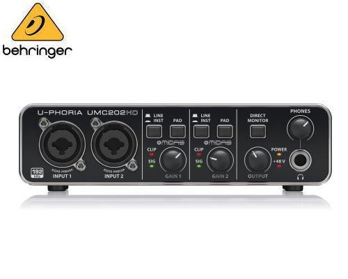 BEHRINGER(ベリンガー)USBオーディオインターフェース UMC202HD U-PHORIA