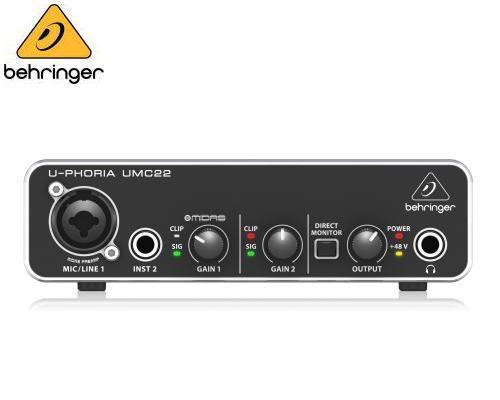 BEHRINGER(ベリンガー)USBオーディオインターフェース UMC22 U-PHORIA