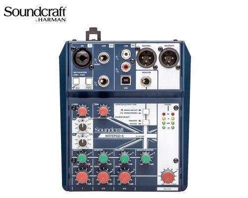 Soundcraft / サウンドクラフト アナログミキサー(USBオーディオインターフェース搭載) Notepad-5