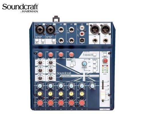 Soundcraft / サウンドクラフト アナログミキサー(USBオーディオインターフェース搭載) Notepad-8FX